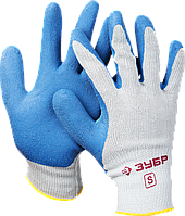 Перчатки трикотажные с латексным покрытием, размер S, серия «ЭКСПЕРТ», ЗУБР