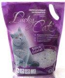 Lucky Cat 3,8л (1,7кг) без аромата Лаки Кэт Силикагелевый наполнитель для кошачьего туалета