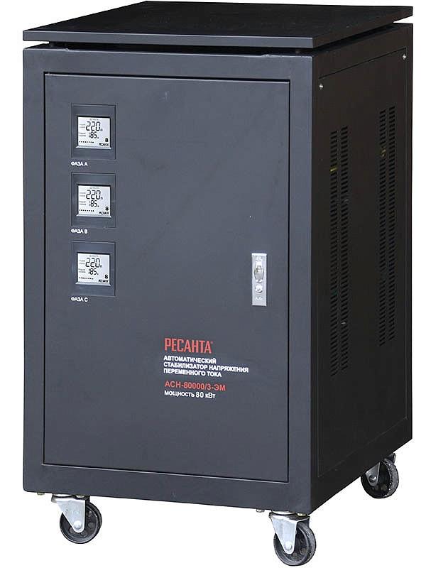 Стабилизатор напряжения  РЕСАНТА ACH-80000/3 ЭМ