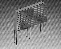 Шкаф металлический для мобильных телефонов 80 ячеек (1740х200х1850) арт. ШМВ-80С
