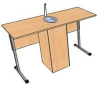 Стол ученический для кабинета химии (ростовая группа  5; 6)