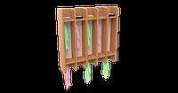 Вешалка для полотенец настенная на 10 крючков (750х160х780)