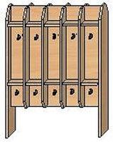 Вешалка для полотенец напольная двухсторонняя на 20 крючков (750х300х950)