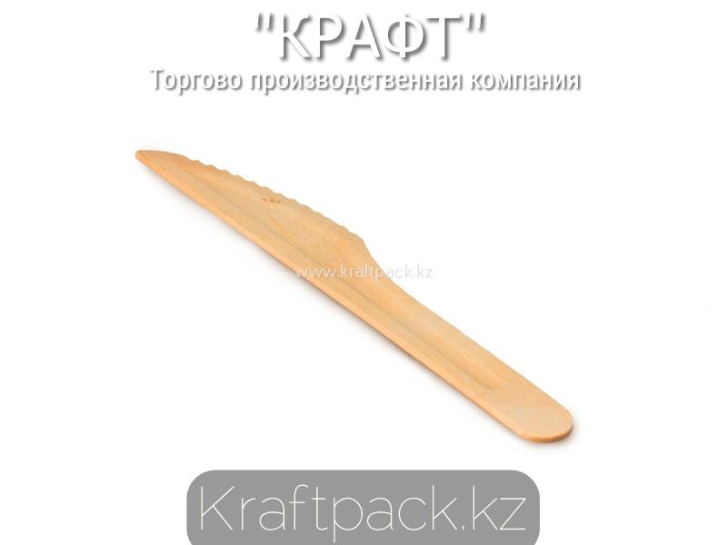 Нож деревянный 160мм (100шт/уп)