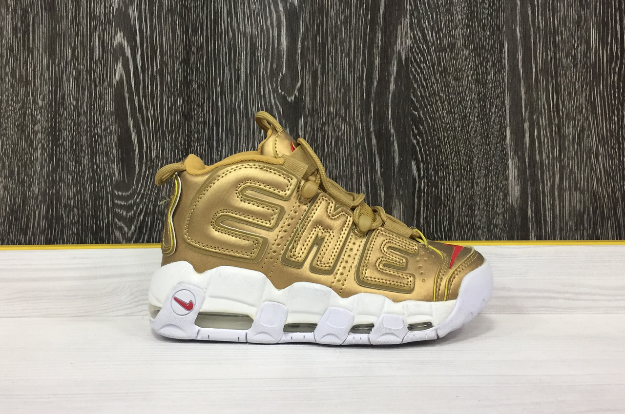 37780ef1 Кроссовки Nike Air More Uptempo x Supreme (Gold) - Sneaker Mania в Алматы