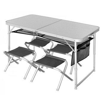 Комплект стол-книжка, стулья складные Norfin Runn, Нагрузка (max): Стол - 30, стулья - 90 кг, Подлокотники, Ст