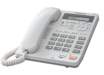 Телефон проводной стационарный Panasonic KX-TS2570 CAW, 50 контактов, АОН: Да, Режимы: Тональный, импульсный,