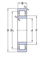 NU 320 ECM/C3VL0241   подшипник SKF