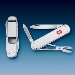 Нож складной карманный Victorinox Money Clip, Функционал: Туризм, Кол-во функций: 5 в 1, Цвет: Серебристый, (0