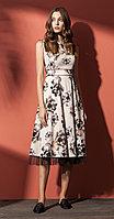 Платье Nova Line-5800, цветы, 42
