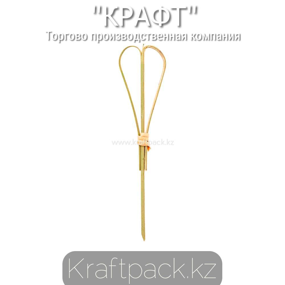 Пика для канапе сердце 10 см (100 шт/уп) Бамбук