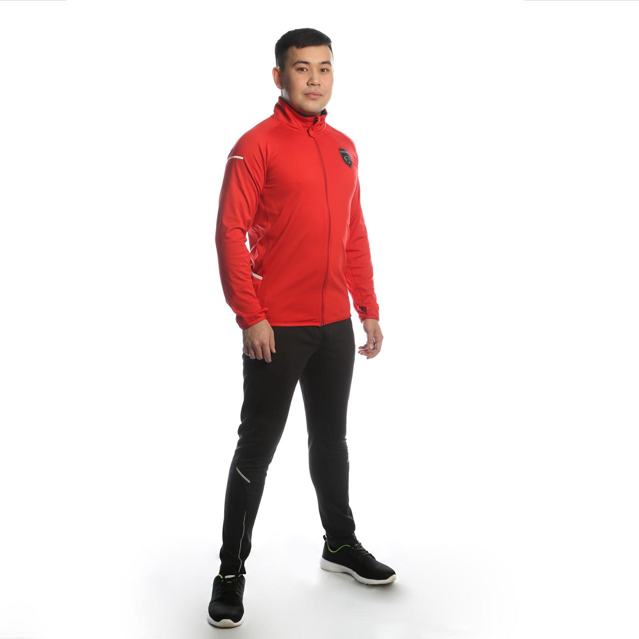 Костюм тренировочный, куртка-красного цвета и брюки- черного цвета, коллекция BLS PATRIOT