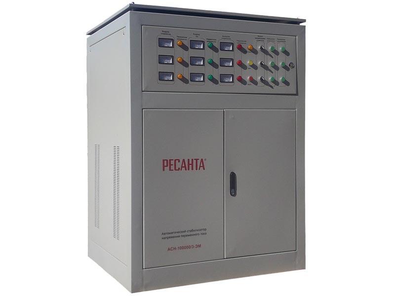 Стабилизатор напряжения  РЕСАНТА ACH-100000/3 ЭМ