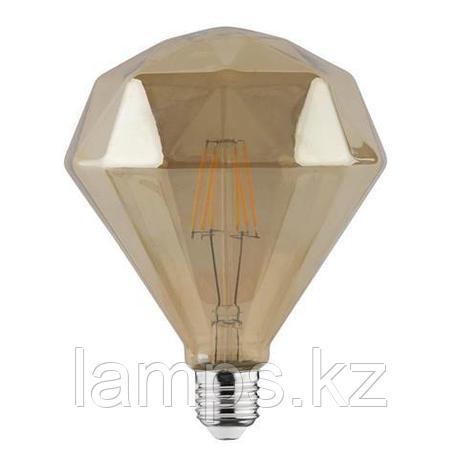 Светодиодная Лампа Эдисона декоративная RUSTIC DIAMOND-6 6W 2200K , фото 2