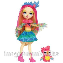 Энчантималс Кукла Enchantimals Peeki Parrot Doll & Sheeny