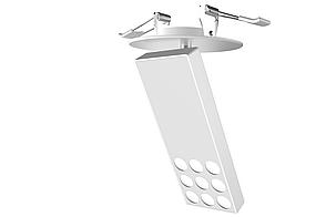 Светодиодный светильник DOWN LIGHT-A 15W встраиваемый,линза,белый