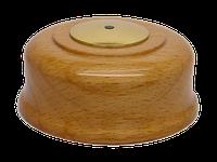 Кнопка вызова КСЛ-4 (светлый бук, под золото)