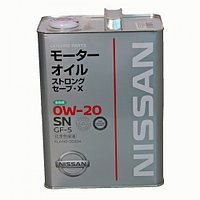 Моторное масло NISSAN SN STRONG SAVE X 0W-20 (4L) KLAN0-00204