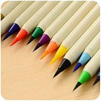 Ручка-кисточка акварельная художественная  (для каллиграфии) штучные коричневый
