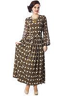 Длинное шифоновое женское платье. Россия. Wisell. Размеры: 46.