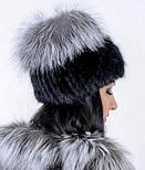 Меховая шапка из Норвежской чернобурки, натуральный мех, фото 3