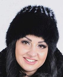 Зимняя меховая шапка из кролика, женская