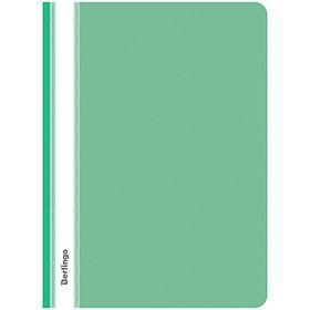 Папка-скоросшиватель пластик.  А4, 180мкм, зеленая с прозр. верхом