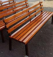 Скамейка парковая - лиственница, цветная, лак