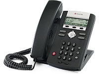 SoundPoint IP 335 2-line IP desktop phone with factory disabled media encryption, HDVoice, integrated 2-port 10/100 Ethernet switch and PoE support.