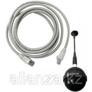 """Extended length White """"drop cable"""" for connecting Spherical Ceiling Microphone Array element to electronics interface. 6ft (1.8m) long."""