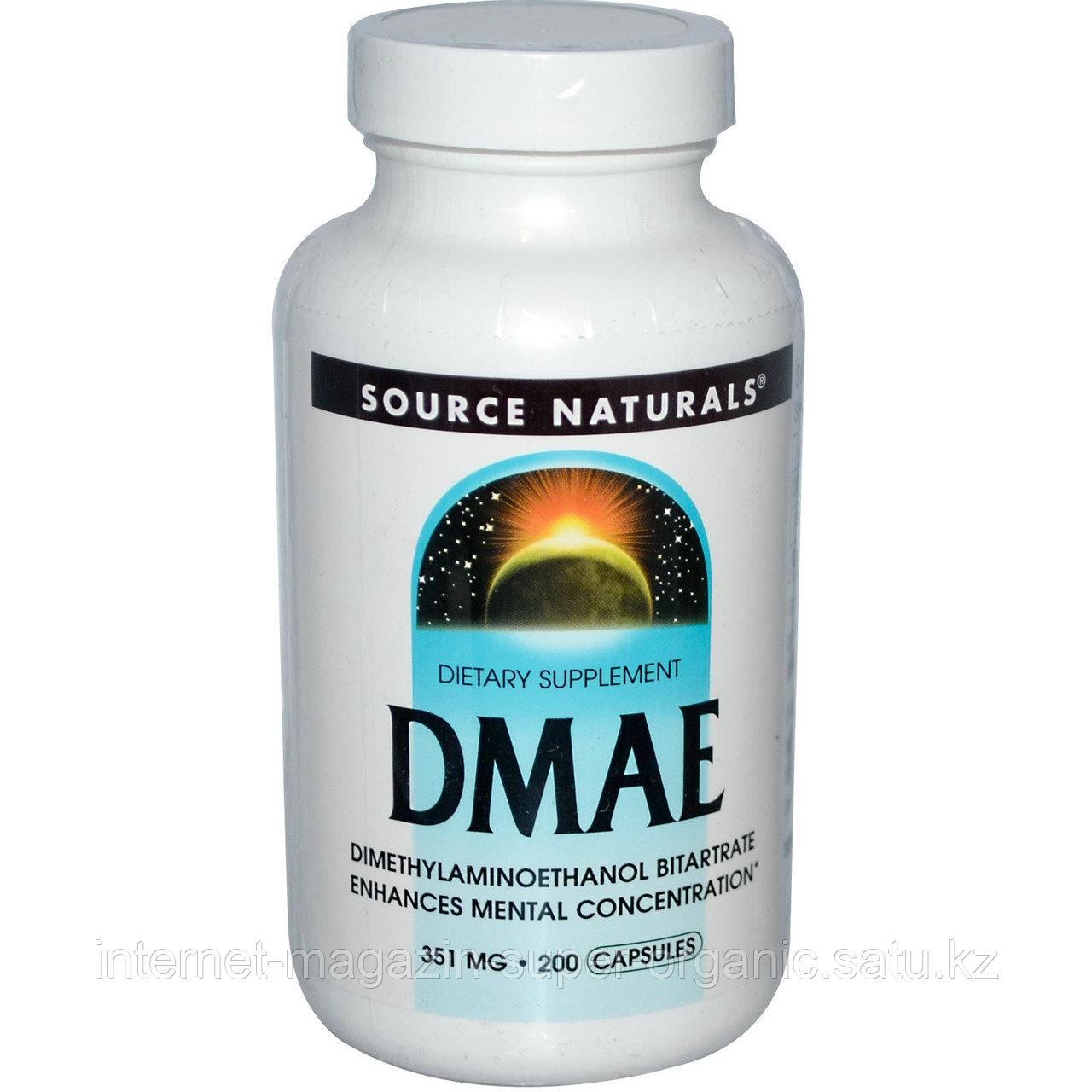 DMAE, ДМАЭ (Диметиламиноэтанол), 351 мг, 200 капсул