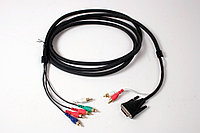 HDX main monitor cable. DVI video and dual RCA Audio to RCA component (blacks cables red, blue, green connectors) for component video and dual RCA