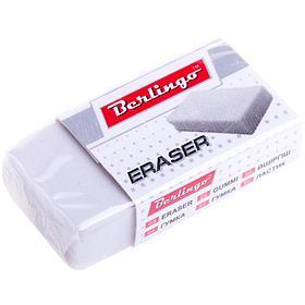 Ластик Berlingo прямоугольный, термопластичная резина, картонный футляр, 40*20*10мм