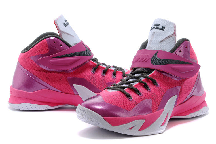 Кроссовки Nike LeBron Zoom Soldier 8 Systems сиреневые