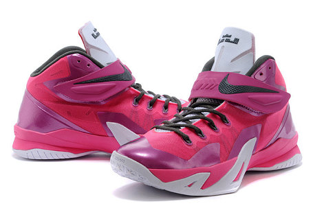 Кроссовки Nike LeBron Zoom Soldier 8 Systems сиреневые, фото 2