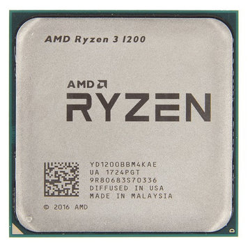 Процессор CPU AM4 AMD Ryzen 3 1200 3.4GHz, 65W, 4C/4T, 10MB(L2-2MB+L3-8MB)
