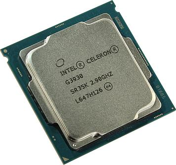 Процессор CPU S-1151 Intel Celeron G3930 2, 9 GHz, Dual Core, Кеш L3- 2 Мб, Intel® HD Graphics 510, Skylake