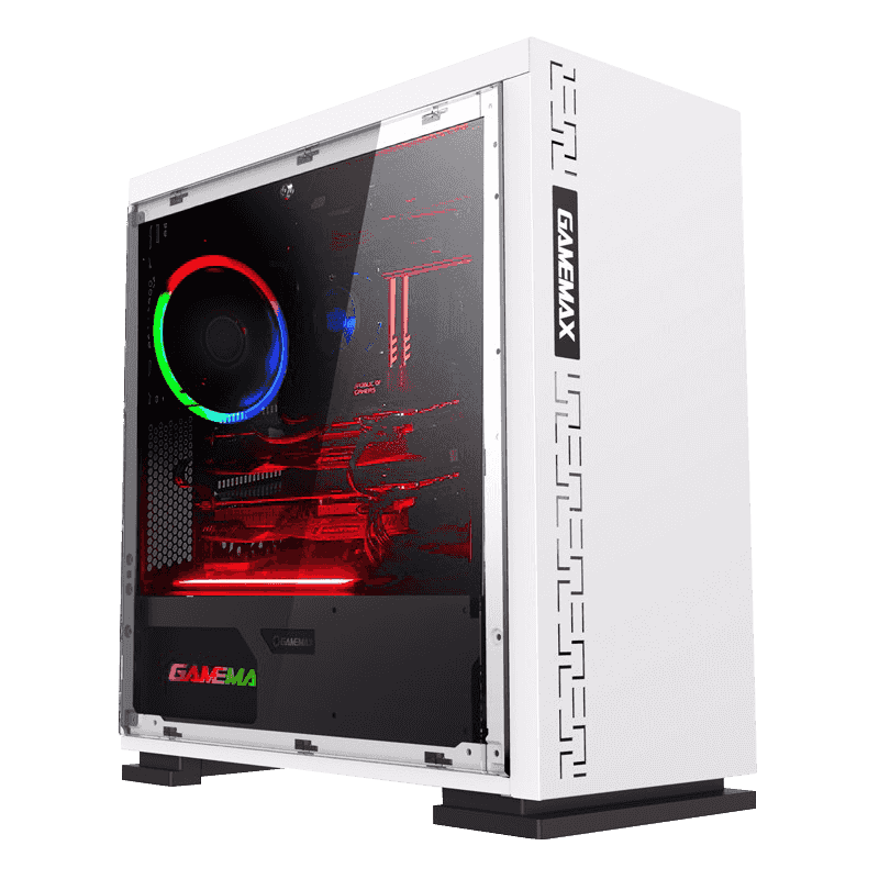 Корпус ПК без БП GamaMax EXPEDITION H605-WT ATX, 1х120, USB3.0x1, USB2.0x2, HD Audio, 188x350x380mm