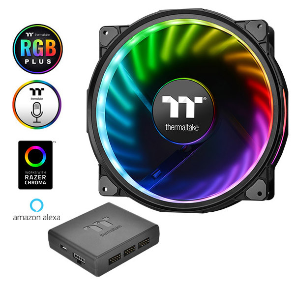Кулер Thermaltake Riing Plus 20 RGB Case Fan TT Premium Edition (CL-F069-PL20SW-A)
