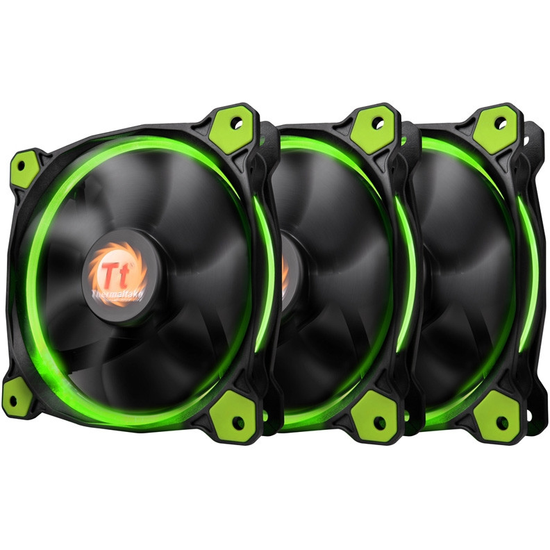 Кулер Thermaltake Riing 12 LED Green 3 pack (CL-F055-PL12GR-A)
