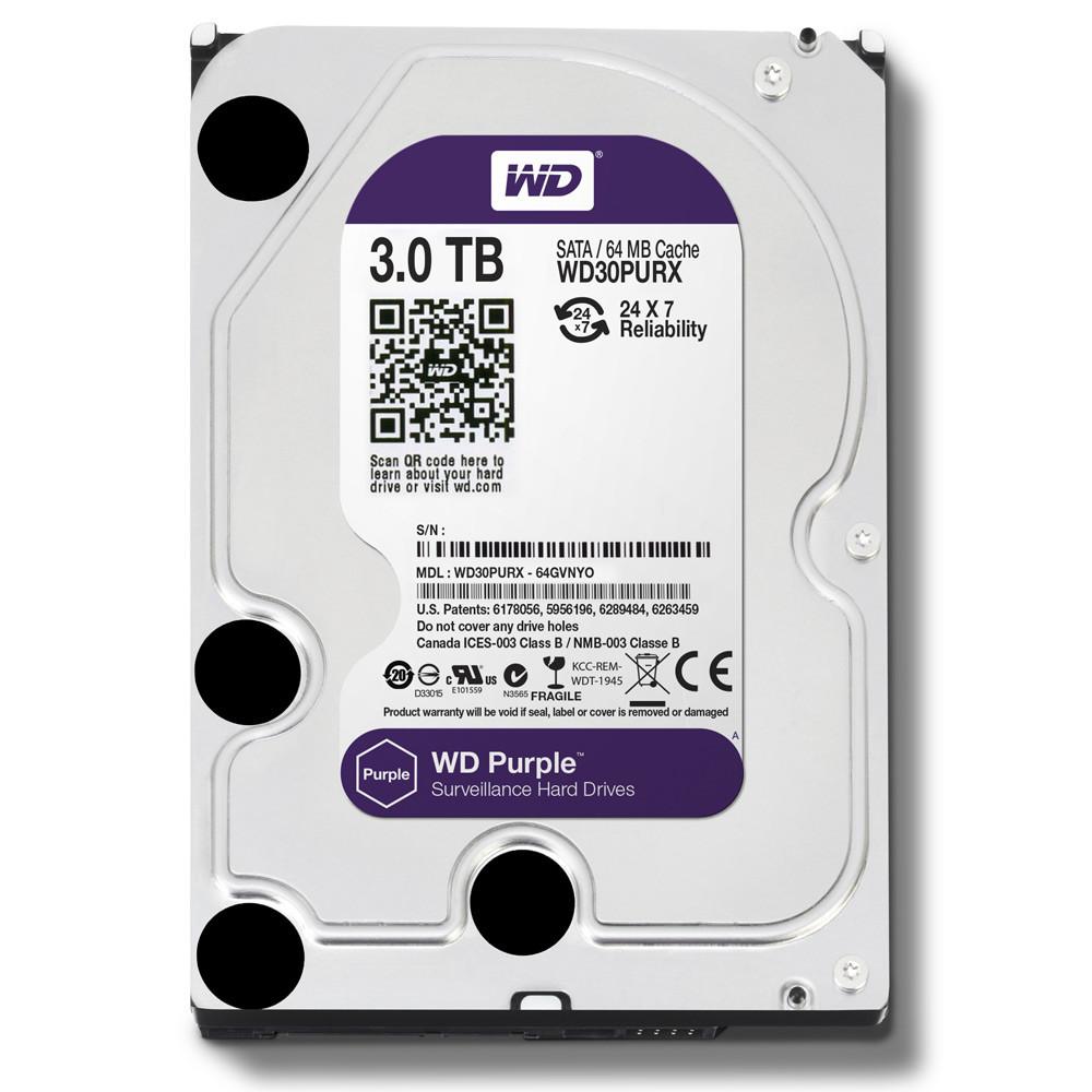 "Жесткий диск для видеонаблюдения HDD 3Tb Western Digital Purple SATA 6Gb/s 64Mb 3, 5"" WD30PURZ"