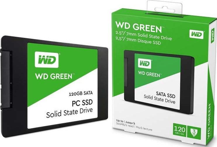 """Твердотельный накопитель 120GB SSD WD WDS120G2G0A Серия GREEN 2.5"""" SATA3"""