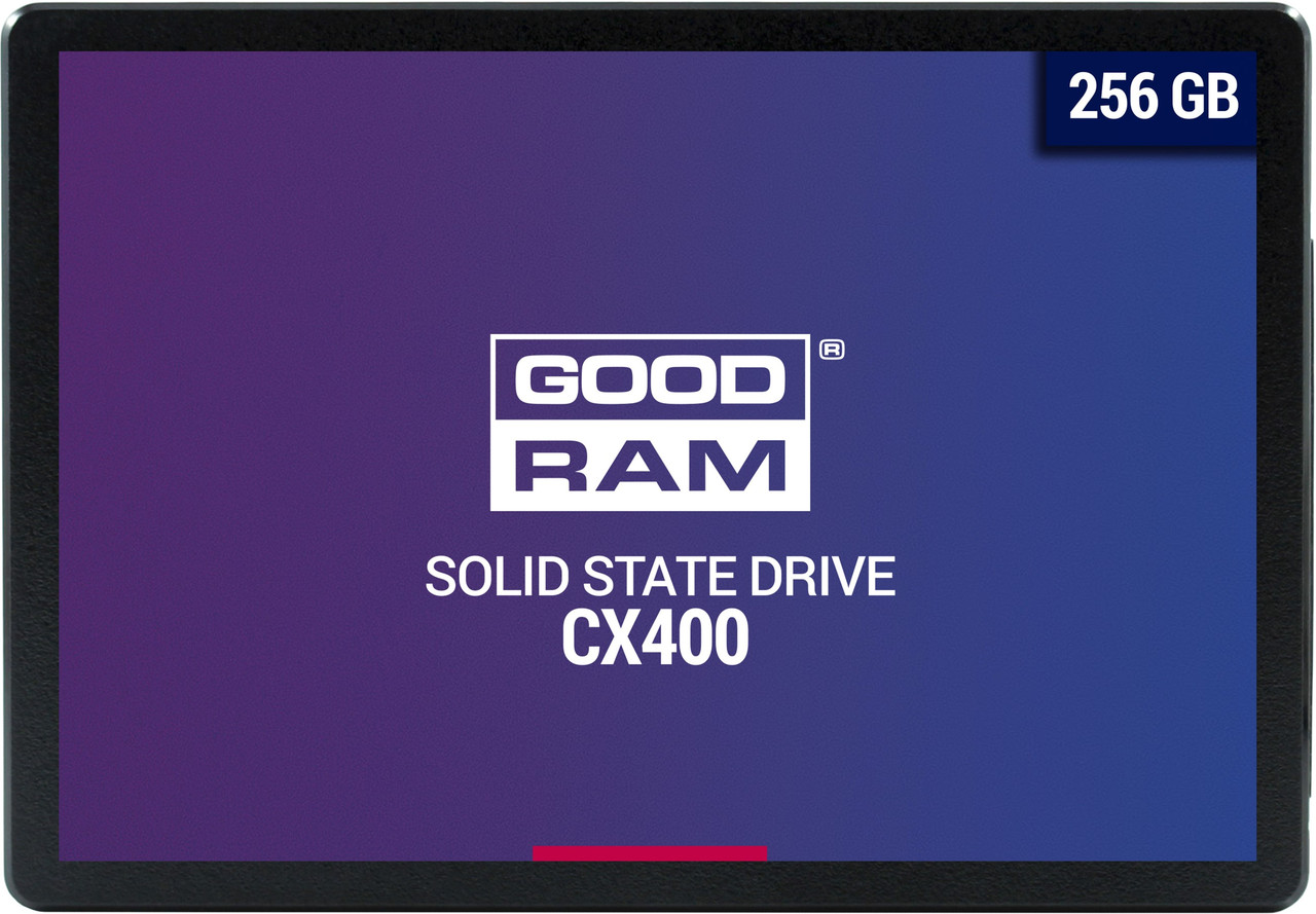 "Твердотельный накопитель 256GB SSD GOODRAM CX 400 2.5"" SATA3 3D NAND R550Mb/s W490MB/s 7mm SSDPR-CX4"