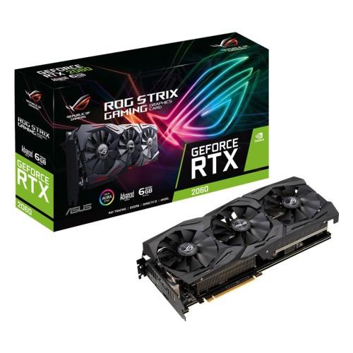 Видеокарта ASUS STRIX RTX 2060, ROG-STRIX-RTX2060-A6G-GAMING, MaxContact, 6Gb/192bit GDDR6