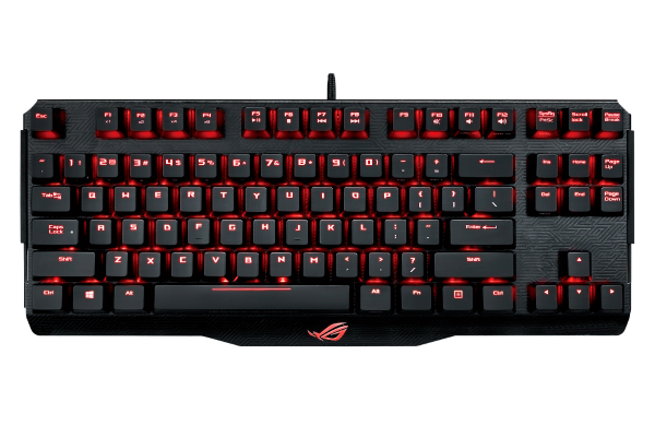 Клавиатура ASUS M802 Claymore Core Cherry MX RGB Brown USB, Black, 90MP00I1-B0RA00
