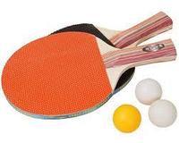 Ракетки для настольного тенниса «KINGBECKET» (ширина - 1 см, 3 шарика, дерево, Китай)