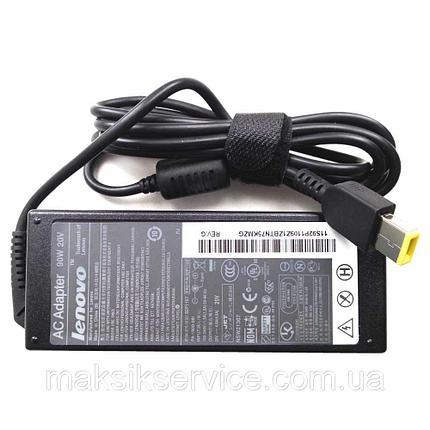 Зарядка для ноутбука Lenovo 20v, 4.5А, USB (прямоугольный разъем) copy, фото 2