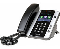 VVX 500 12-line Business Media Phone with factory disabled media encryption for Russia. POE. Ships without power supply.