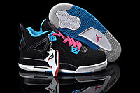 Кроссовки Air Jordan 4(IV) Retro Black Blue Pink (36-46), фото 1