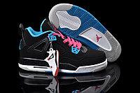 Кроссовки Air Jordan 4(IV) Retro Black Blue Pink (36-46), фото 1